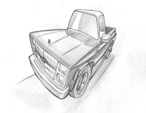Chevy pickup - 12 x 16