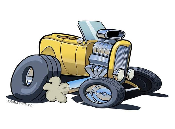 8 x 11 color art print 32 Ford hot rod