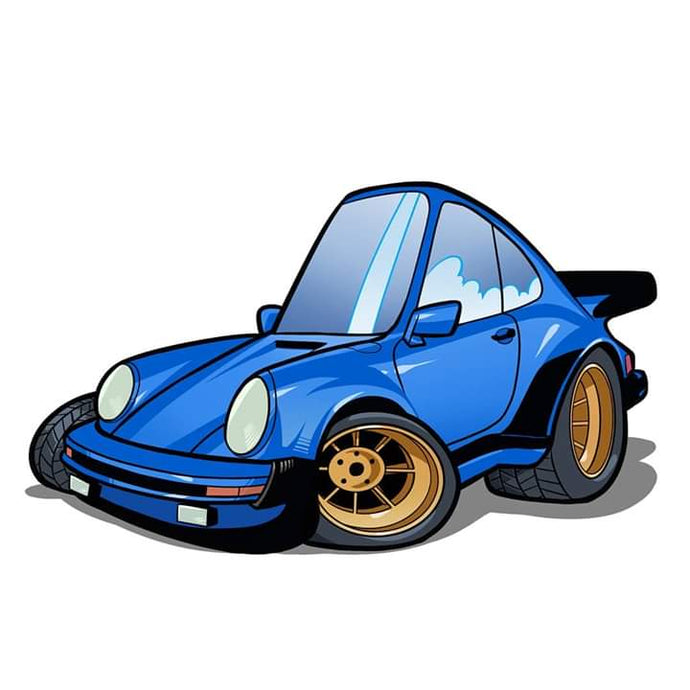 8 x 11 color art print Porsche 911