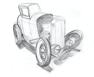 Ford Coupe x 12 x 16