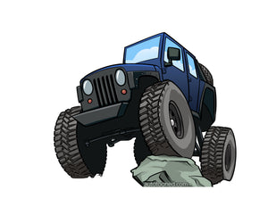 8 x 11 color art print Jeep Wrangler