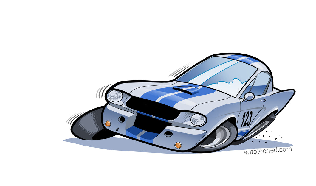 8 x 11 color art print Shelby Ford Mustang Cobra GT 350