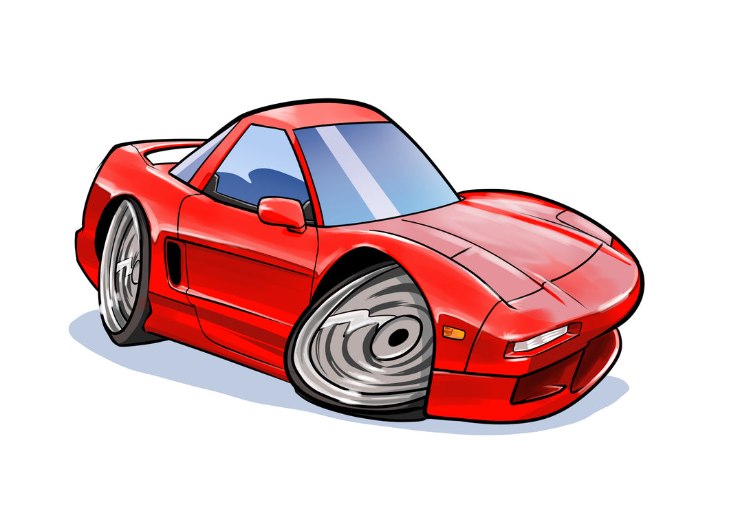 Color digital car drawing