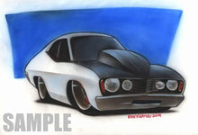 Color airbrush car drawing