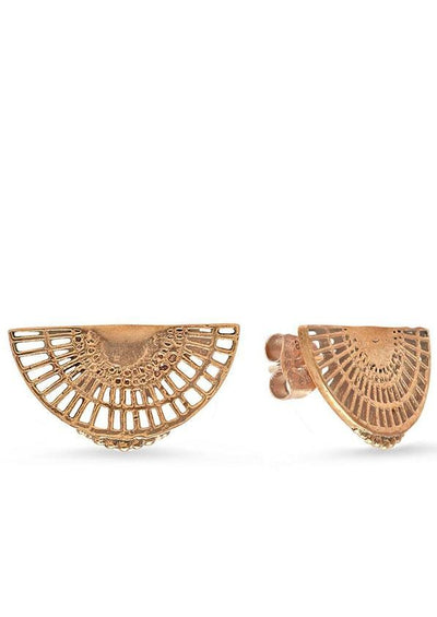 Filigree Fan Studs