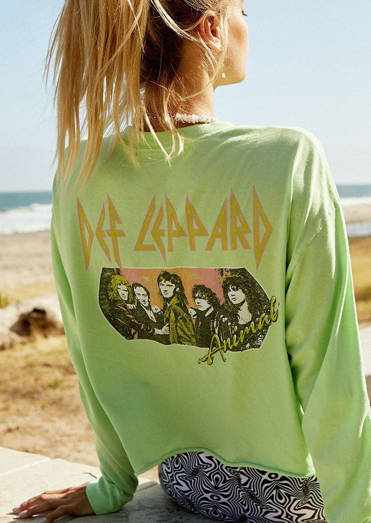 Def Leppard, Animal Crop Tee