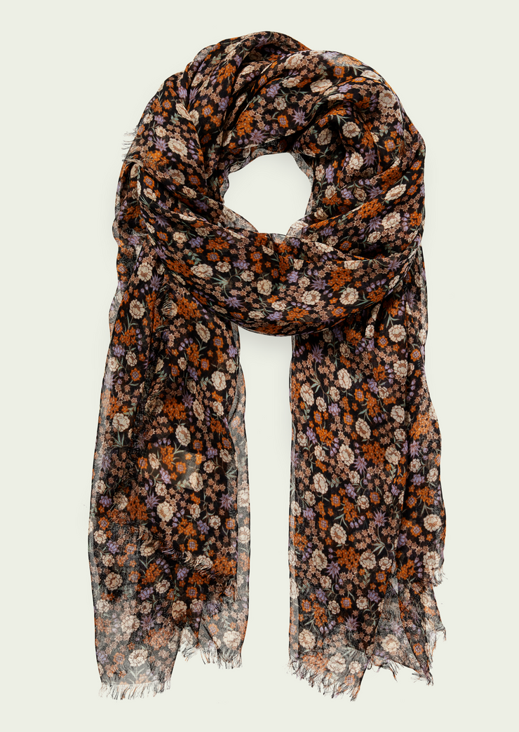 Floral Folklore Large Tissue Scarf