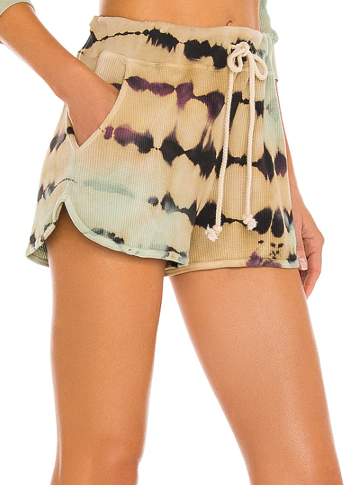 Tie Dye Thermal Shorts