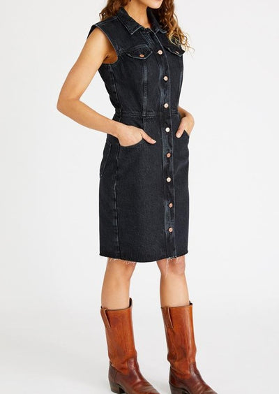 Jori Sleeveless Denim Dress
