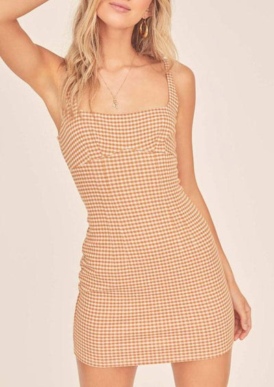 Daisy Gingham Mini Dress