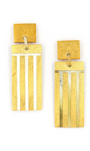 Block Party Statement Earrings - Gold