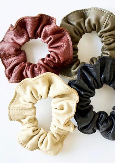 Modern Leather Scrunchie
