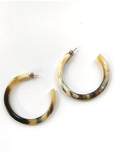 Natural Tube Hoop Earrings