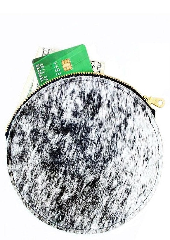 Hair-On Circle Pouch