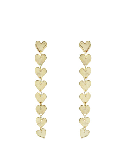 Petra Molten Heart Earrings