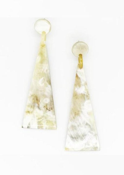 Natural Triangle Earrings
