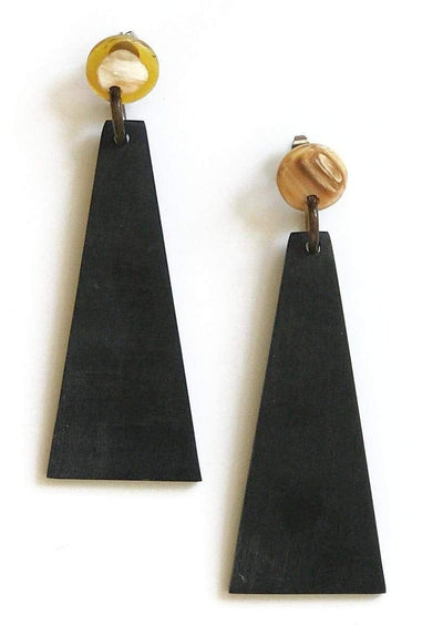 Matte Triangle Earrings