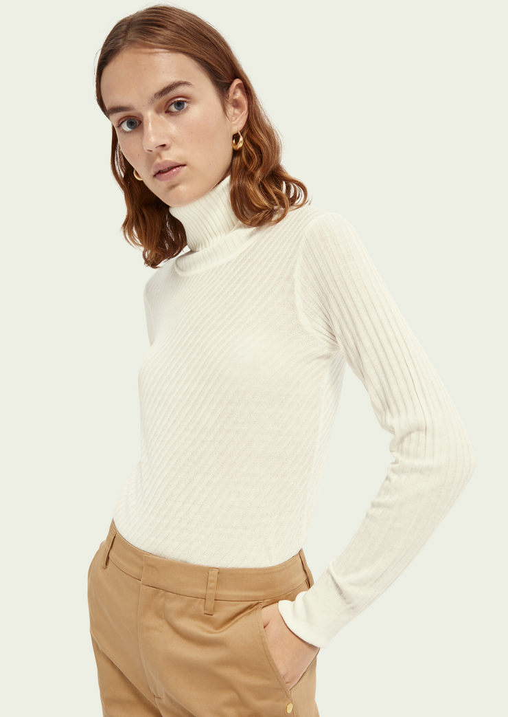 Rib Knitted Turtleneck
