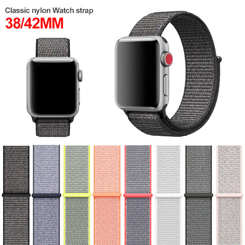 Colorful Woven nylon band strap for Apple iWatch - fitnessbeststore