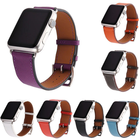 Genuine Leather Band for Apple Watch Series 1 2 3 With Adapters - fitnessbeststore
