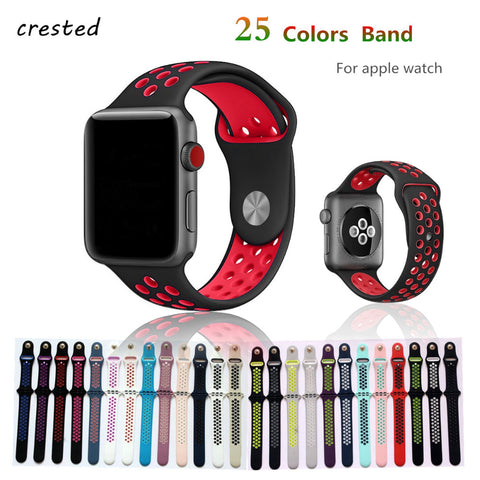 Silicone strap sport wrist watch belt for apple watch 42mm 38mm series 3/2/1 - fitnessbeststore