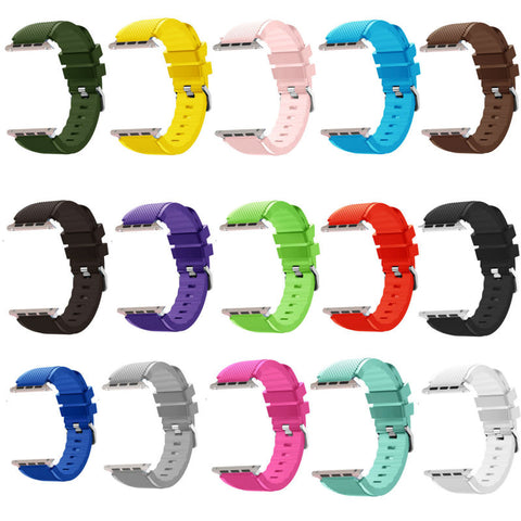 Silicone Sports Sweat Proof Strap for iWatch Series 3/2/1 - fitnessbeststore
