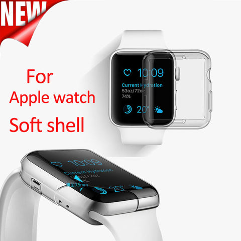 Transparent soft and slim TPU Plastic Case for iwatch 38mm/42mm Series 1/2/3 Protect Cover - fitnessbeststore