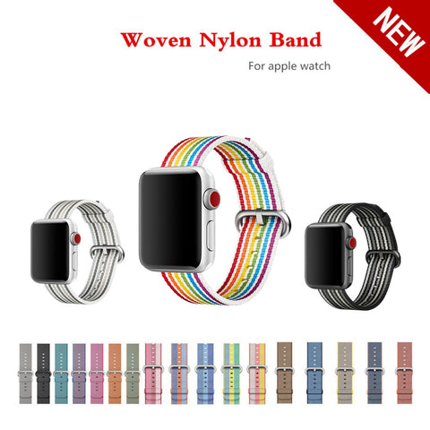 Woven fabric-like nylon strap band For Apple Watch 42mm 38mm series 3/2/1 - fitnessbeststore