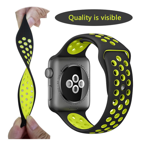 Silicon Sports Band Strap for Apple Watch (iWatch) 38/42mm - fitnessbeststore