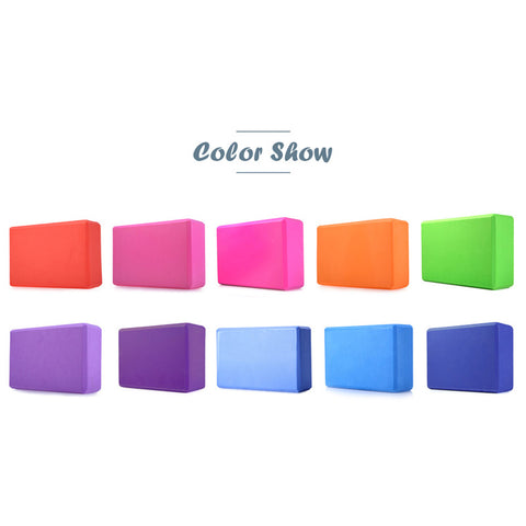 Pilates EVA Yoga Block Brick (7 Colors) for Gym/Foam/Workout - fitnessbeststore