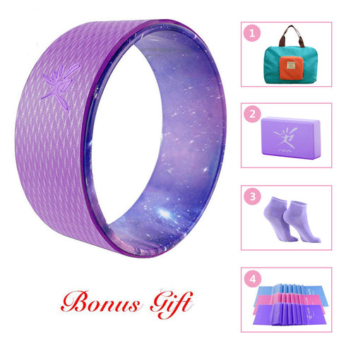 Yoga Wheel Set with Foldable Handy Bag (7 Colors)