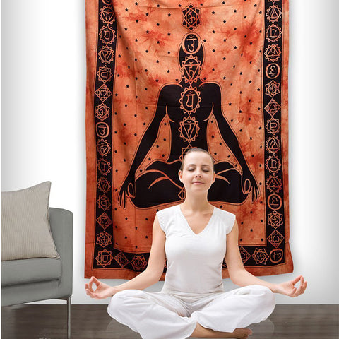Indian Mandala Buddha yoga background decorative tapestry (2 Styles)