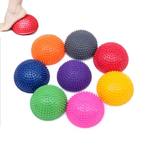 PVC Inflatable Half Yoga Fit ball for Stabilizer Exercises (8 Colors) - fitnessbeststore