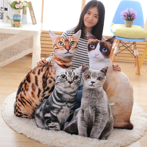 3D Simulation cat pillow (4 styles)