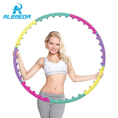 Magnet fitness hula hoop with massage effect