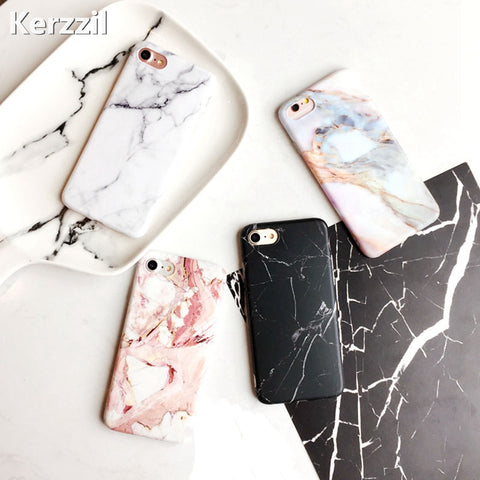 Marble Stone Gel Case For iPhone