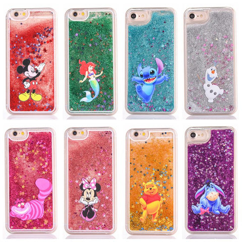 Cute Cartoon Liquid Quicksand iPhone Case