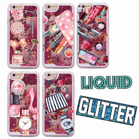 Fashion Liquid Glitter Girl Makeup Soft iPhone Case