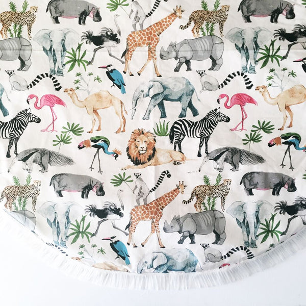 Handmade Animal Kingdom Padded Playmat - Bailey&Rufus