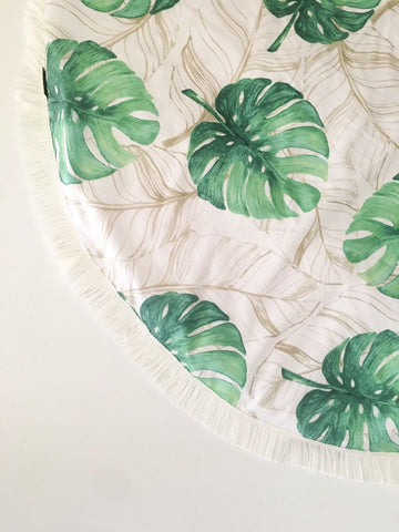 Handmade Tropical Green Padded Playmat - Bailey&Rufus
