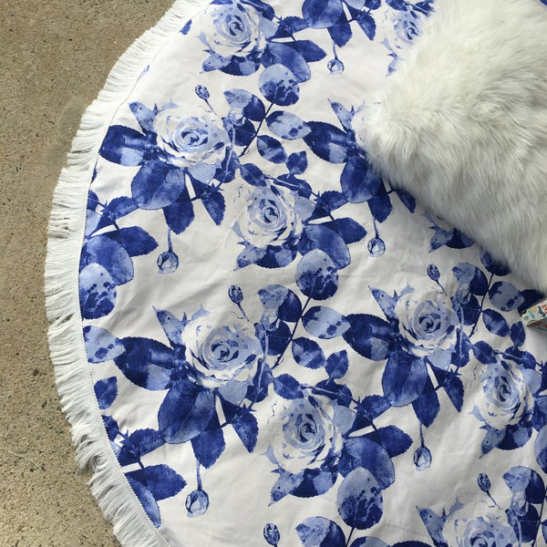 Handmade Violet Rose Padded Playmat - Bailey&Rufus