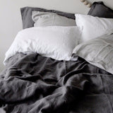Linen Duvet Cover + Pillowcases - Slate - Bailey&Rufus