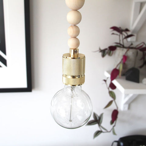 Natural Beaded Pendant Light - Bailey&Rufus