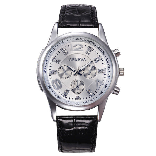 Geneva Men's Business Leather Watch
