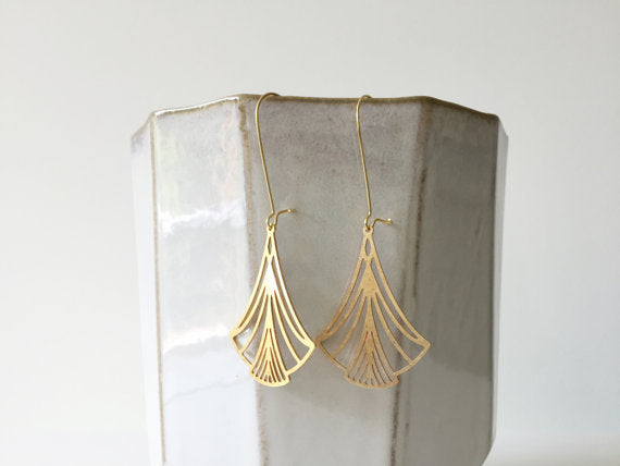 Art Nouveau Triangle Earrings