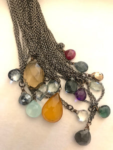 SALE Sweet Bleu Gemstone Necklaces