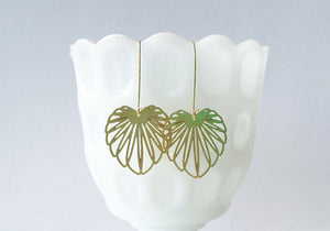 Art Nouveau Leaf Earrings