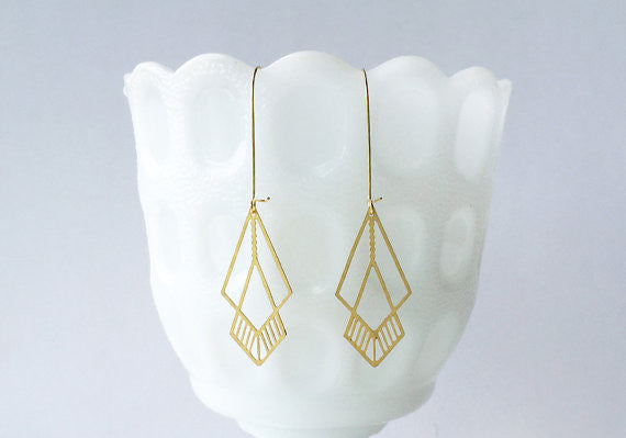 3-8 Octahedron Earrings