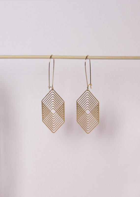 Square Tunnel Earrings