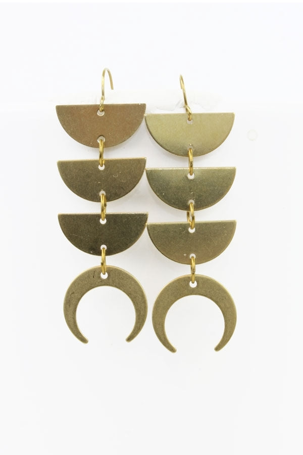Lunar Stack Earrings